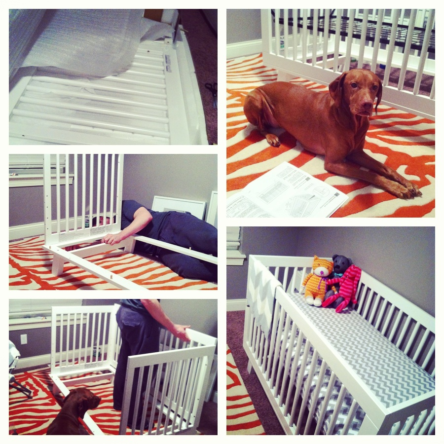 building the crib.